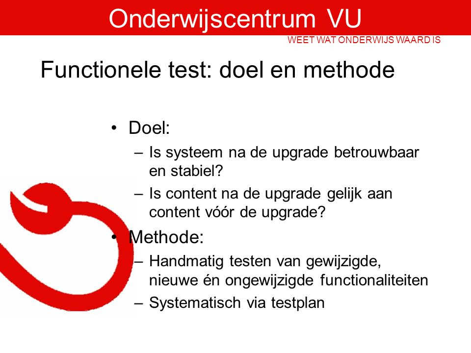Functionele test: doel en methode