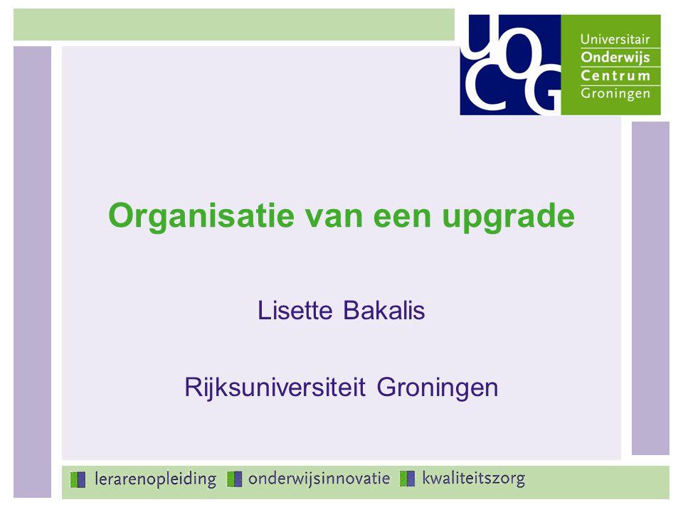 Organisatie van een upgrade
