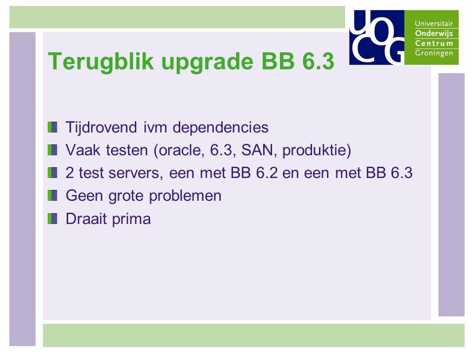 Terugblik upgrade BB 6.3 Tijdrovend ivm dependencies