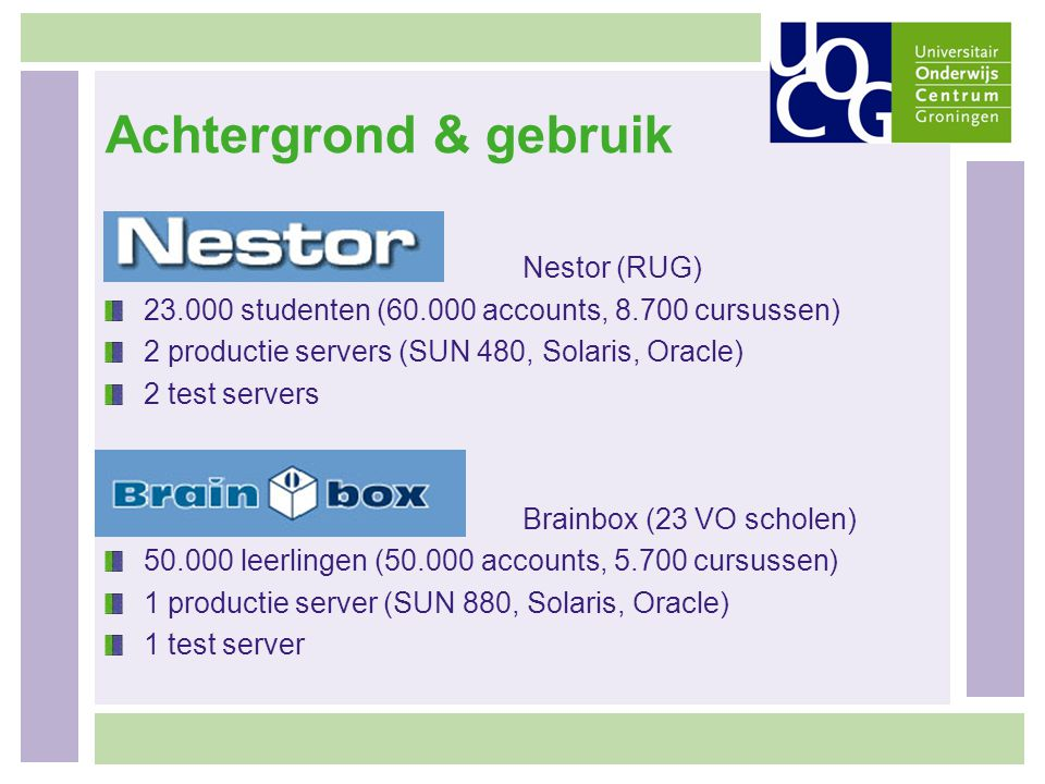 Achtergrond & gebruik Nestor (RUG)