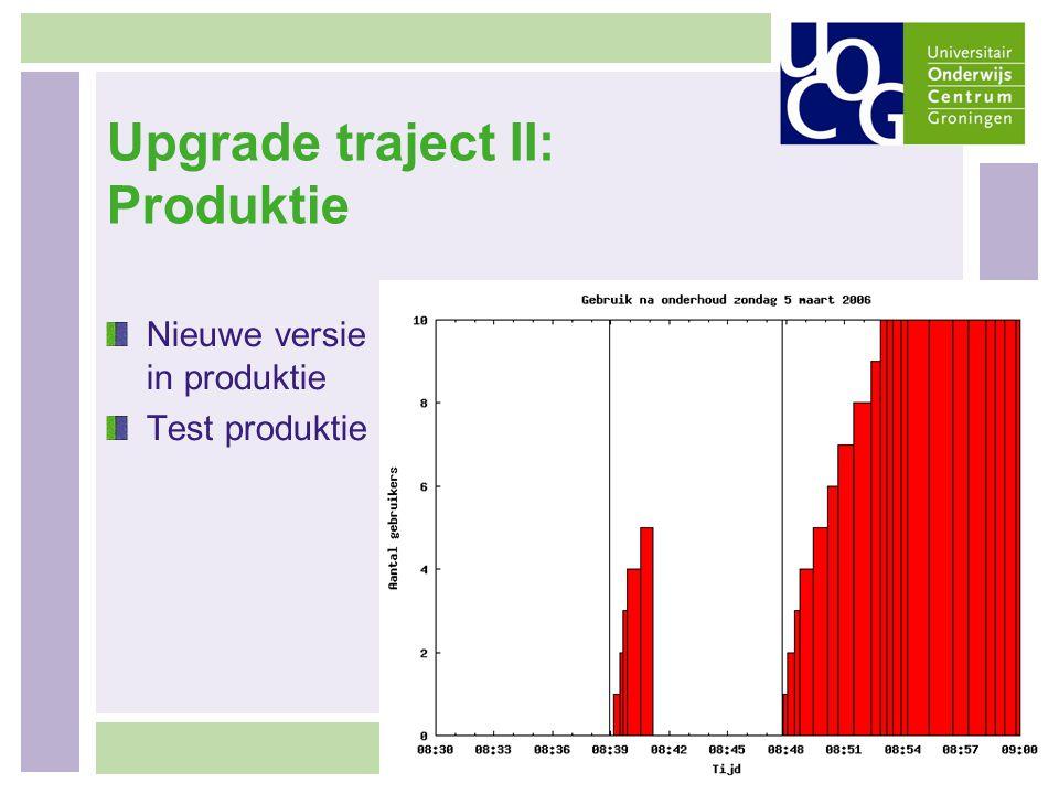 Upgrade traject II: Produktie