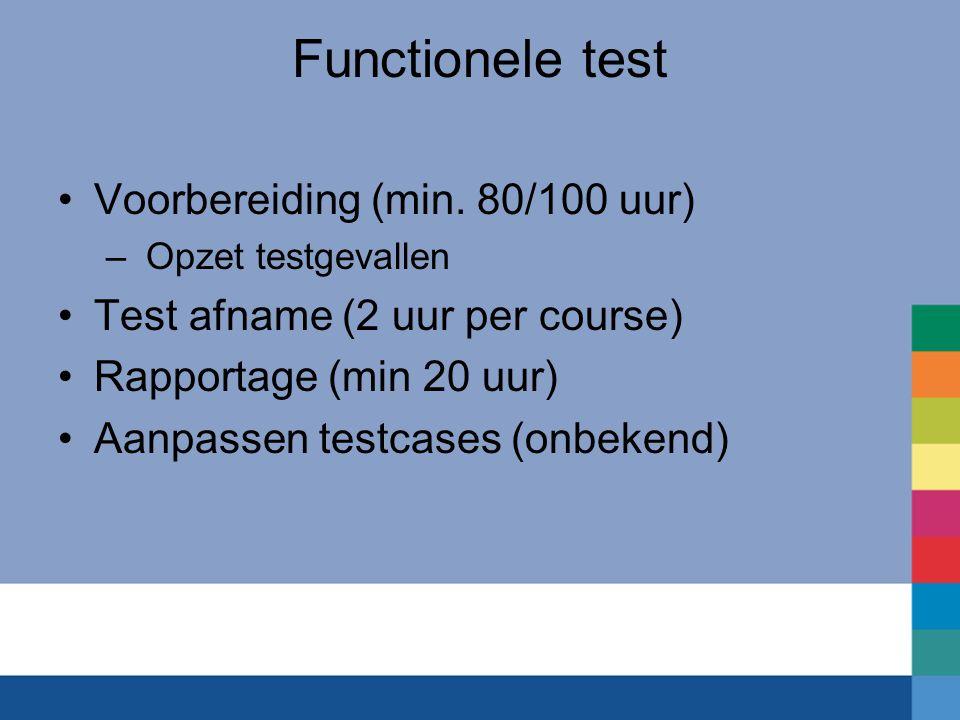 Functionele test Voorbereiding (min. 80/100 uur)
