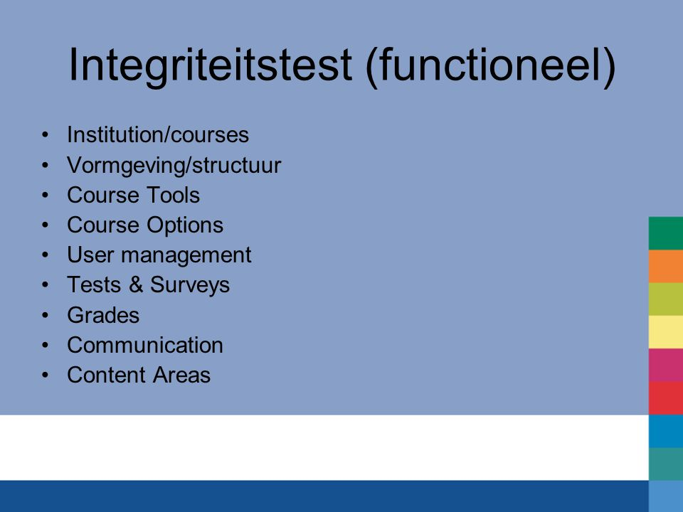 Integriteitstest (functioneel)