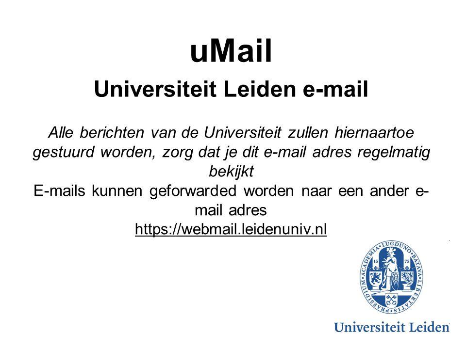 uMail Universiteit Leiden e-mail