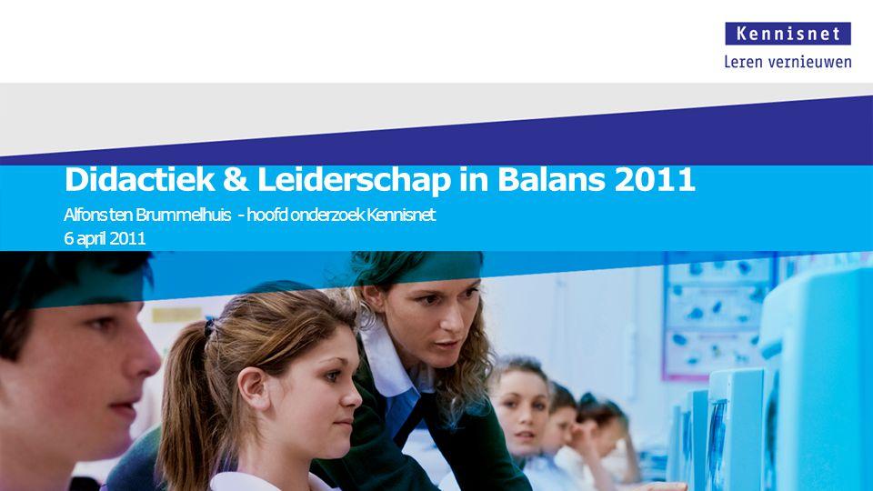 Didactiek & Leiderschap in Balans 2011