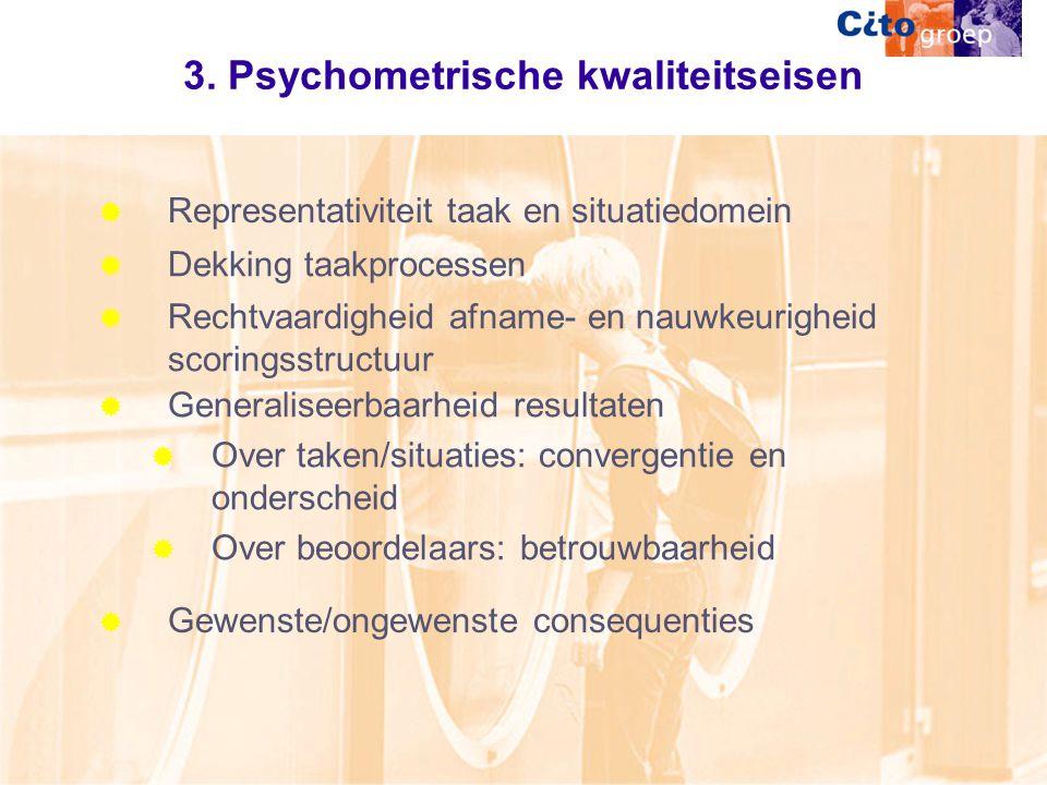 3. Psychometrische kwaliteitseisen