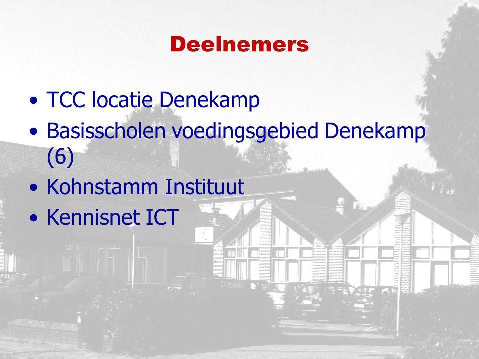 Deelnemers TCC locatie Denekamp. Basisscholen voedingsgebied Denekamp (6) Kohnstamm Instituut.