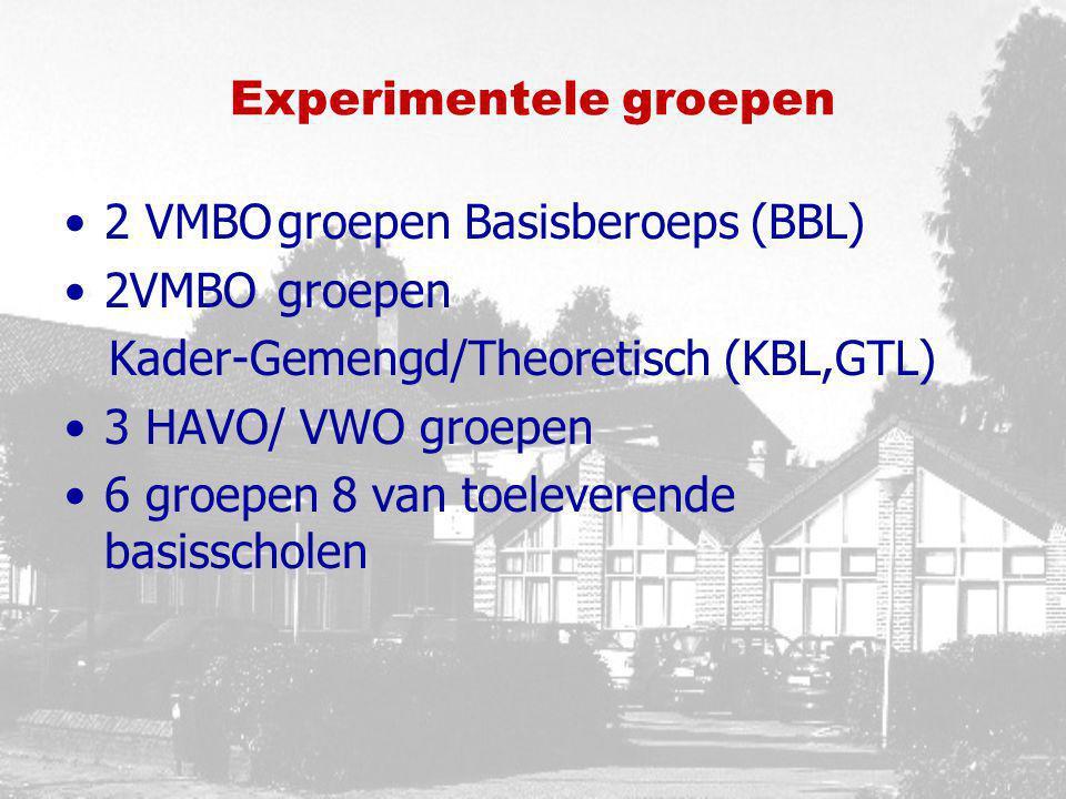 Experimentele groepen