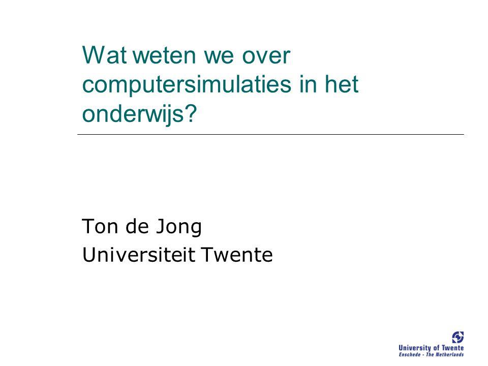 Wat weten we over computersimulaties in het onderwijs