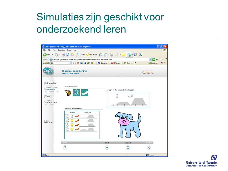 Simulaties zijn geschikt voor onderzoekend leren