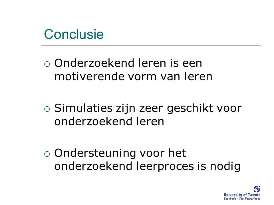 Conclusie Onderzoekend leren is een motiverende vorm van leren