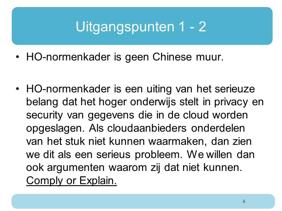Uitgangspunten 1 - 2 HO-normenkader is geen Chinese muur.