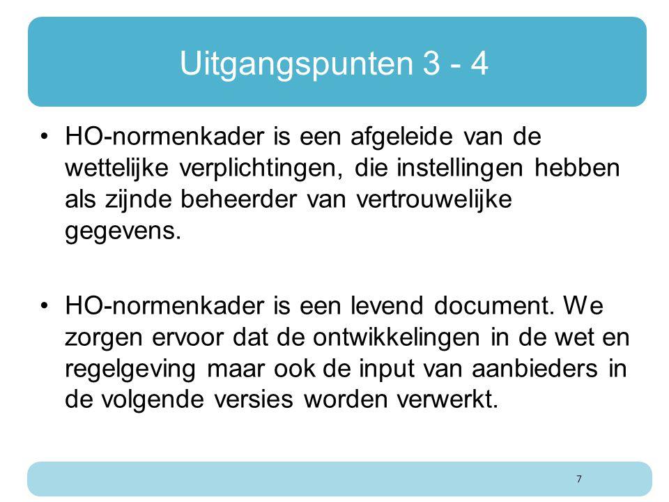 Uitgangspunten 3 - 4