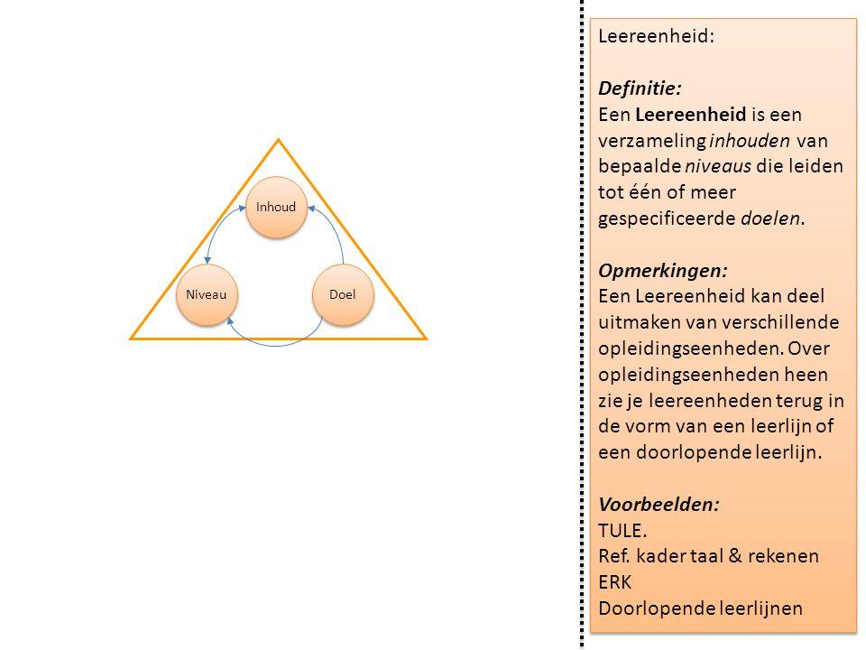 Ref. kader taal & rekenen ERK Doorlopende leerlijnen