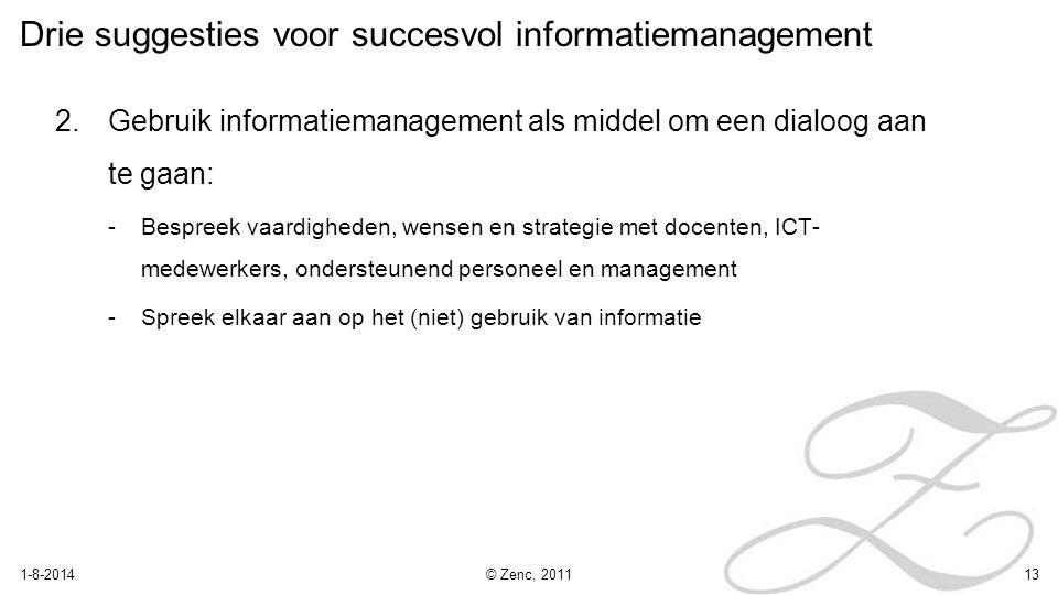 Drie suggesties voor succesvol informatiemanagement