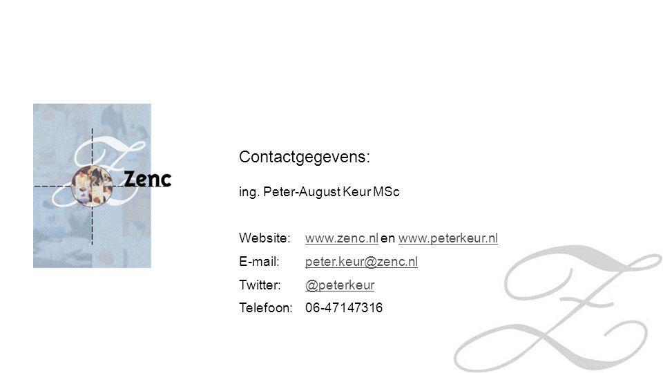 Contactgegevens: ing. Peter-August Keur MSc