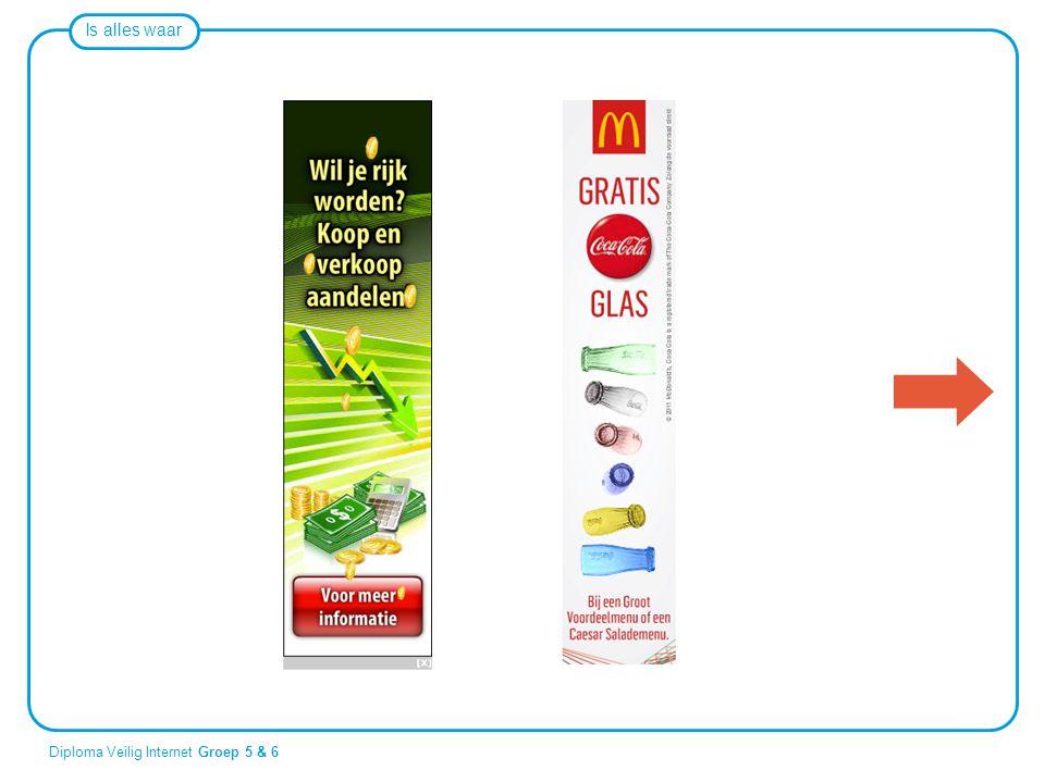 Eén van deze plaatjes is een gewone reclame, de andere is een reclame die ook nog wel eens een misleiding zou kunnen zijn.