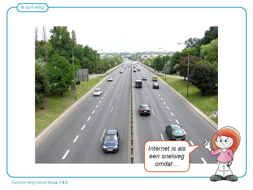 Internet is als een snelweg omdat…