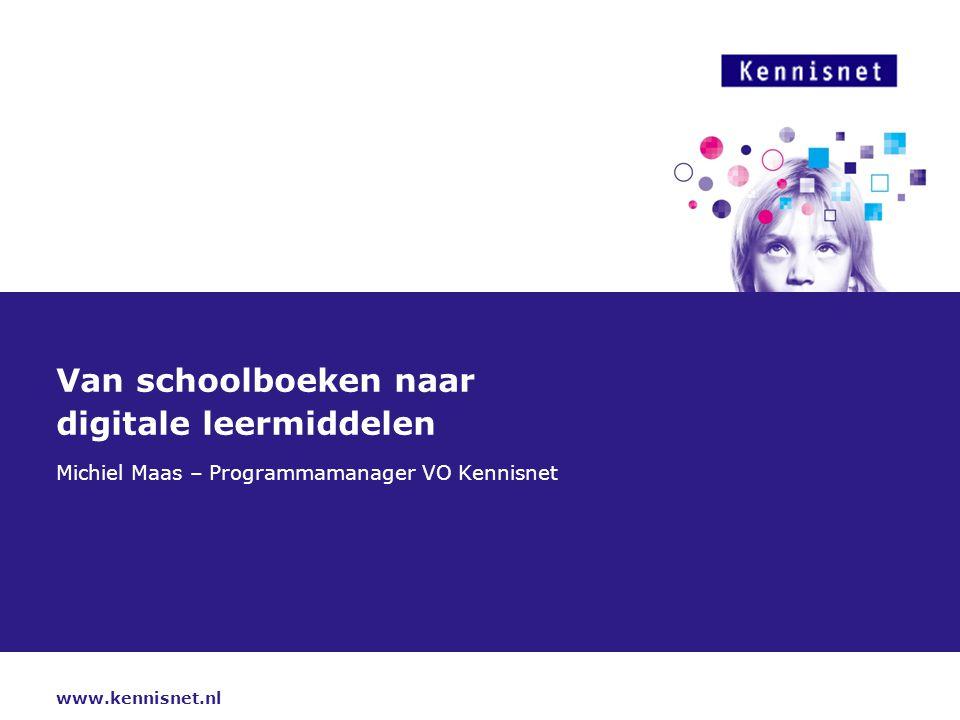 Van schoolboeken naar digitale leermiddelen
