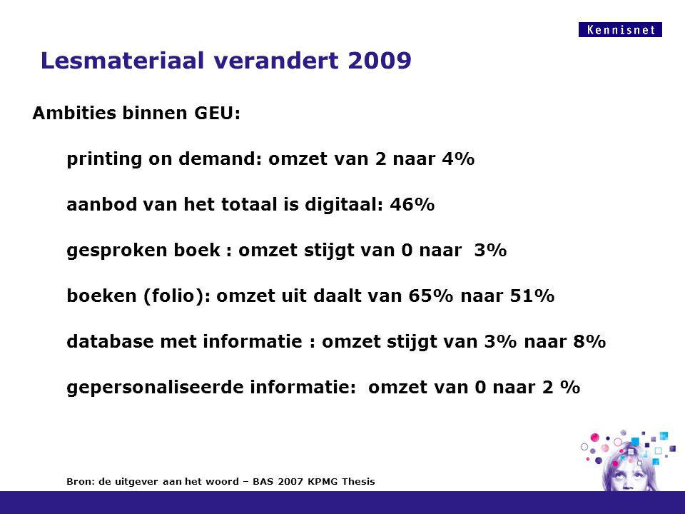 Lesmateriaal verandert 2009