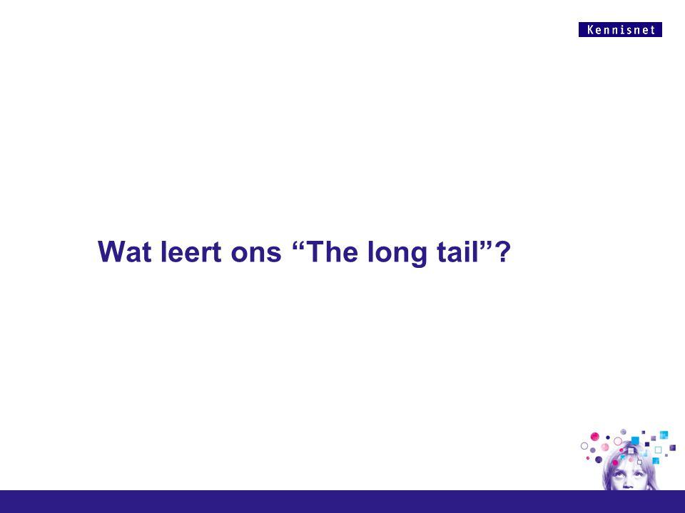 Wat leert ons The long tail