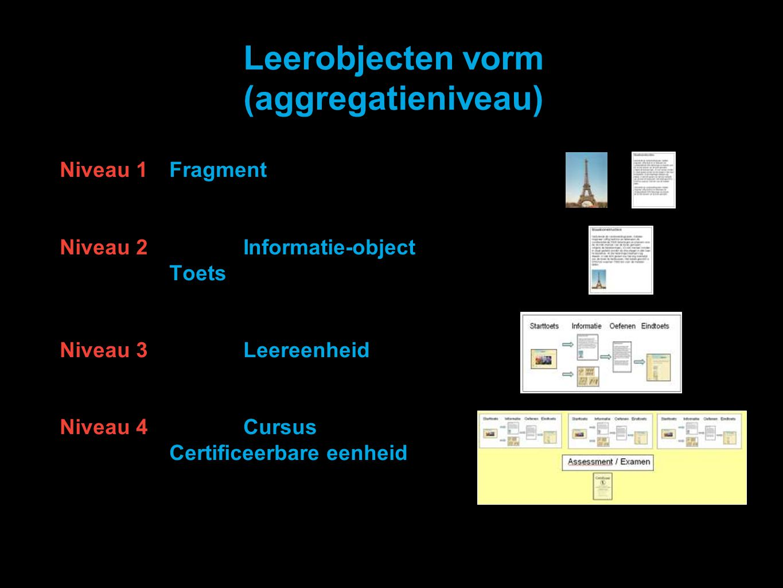 Leerobjecten vorm (aggregatieniveau)