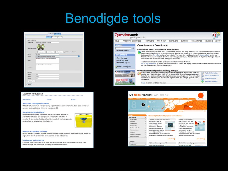 Benodigde tools