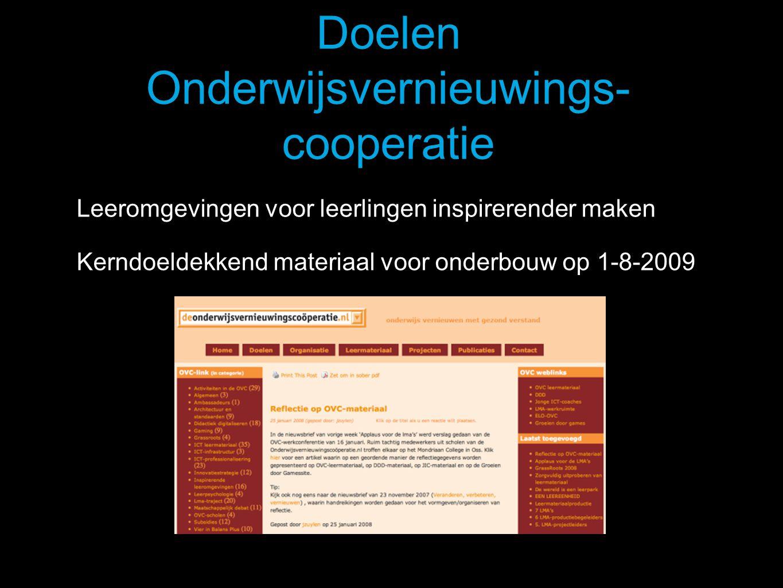Doelen Onderwijsvernieuwings-cooperatie