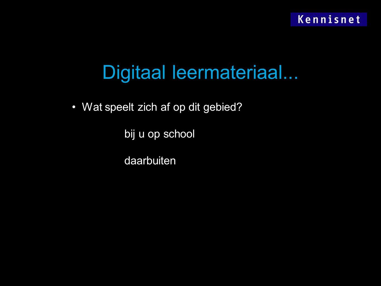 Digitaal leermateriaal...