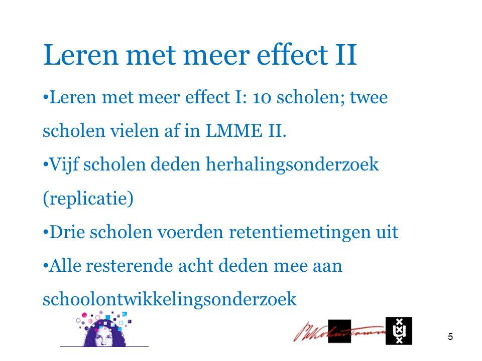 Leren met meer effect II