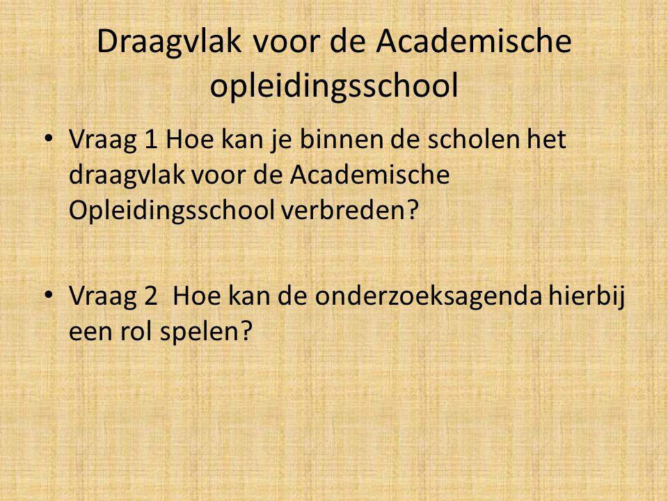 Draagvlak voor de Academische opleidingsschool