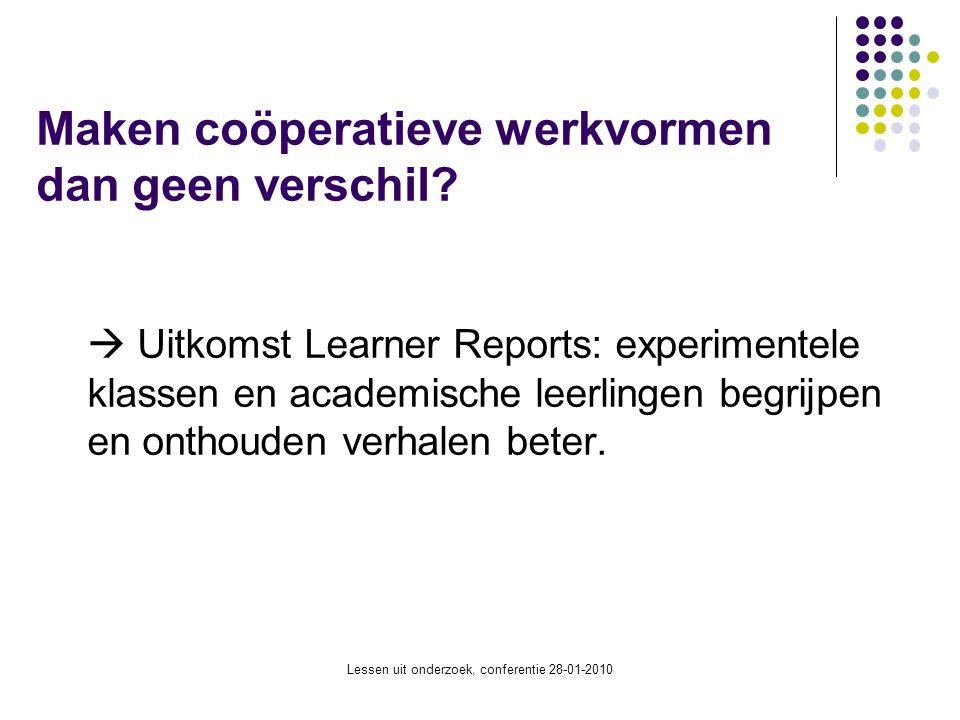 Maken coöperatieve werkvormen dan geen verschil