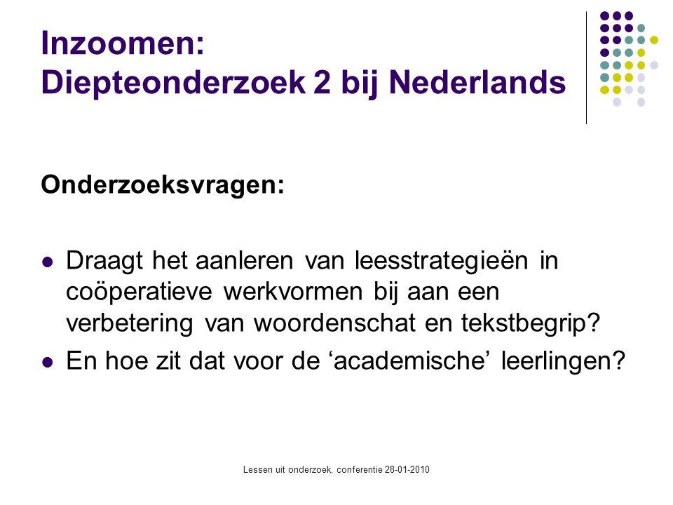 Inzoomen: Diepteonderzoek 2 bij Nederlands