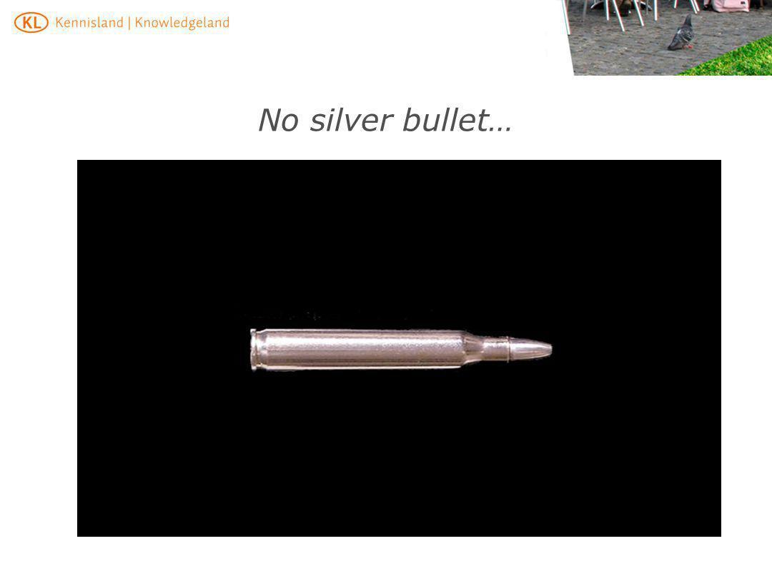 No silver bullet… Veel projectn bevinden zich op meerdere terreinen