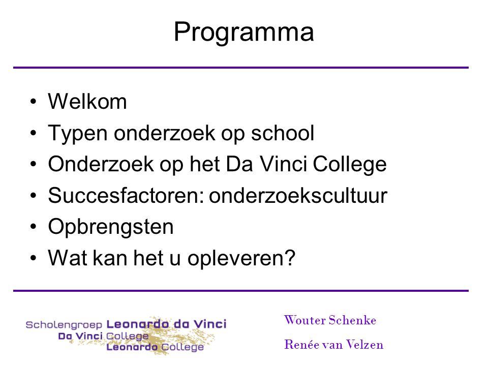 Programma Welkom Typen onderzoek op school