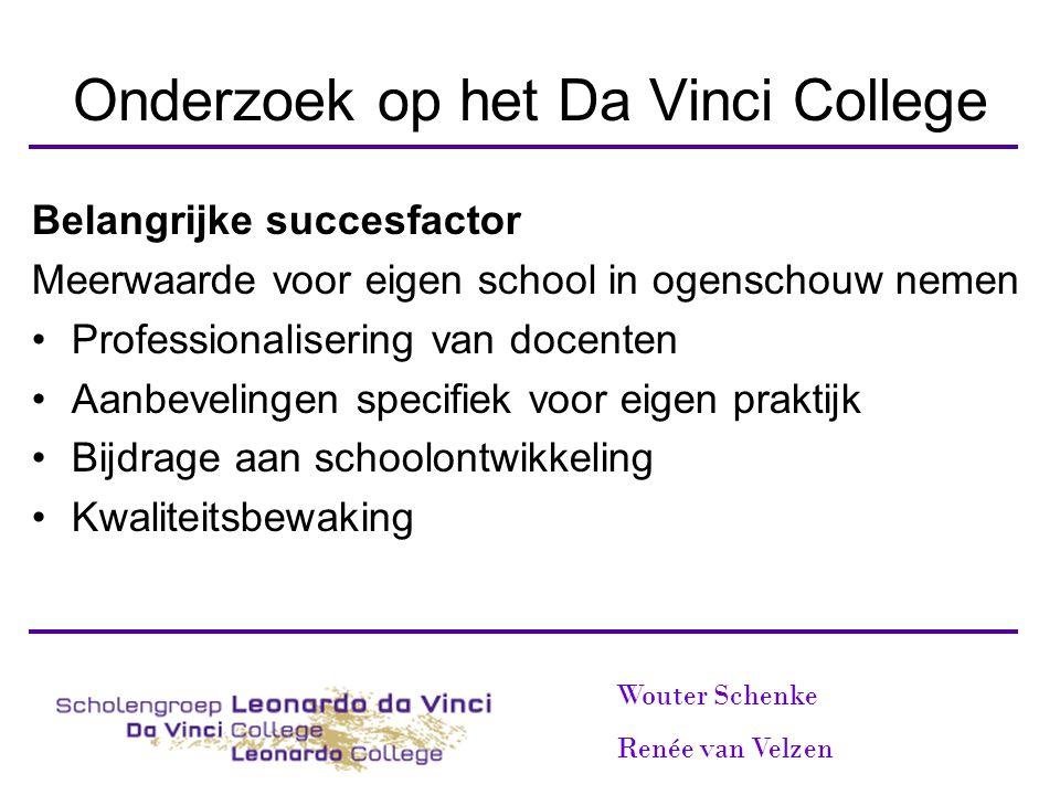 Onderzoek op het Da Vinci College