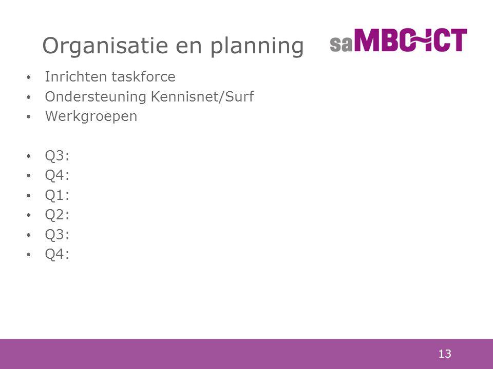 Organisatie en planning