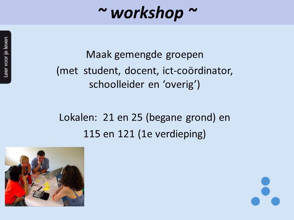~ workshop ~ Maak gemengde groepen