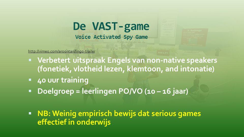 De VAST-game Voice Activated Spy Game
