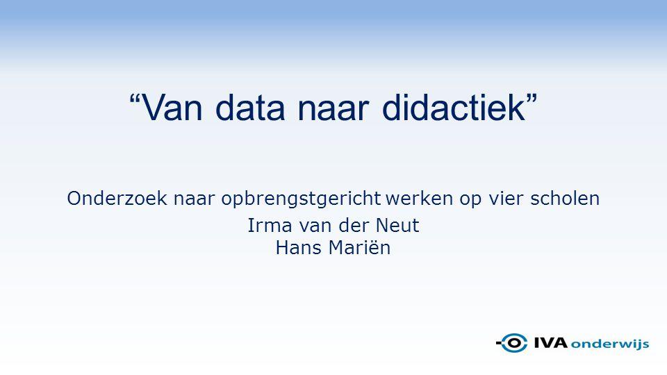 Van data naar didactiek