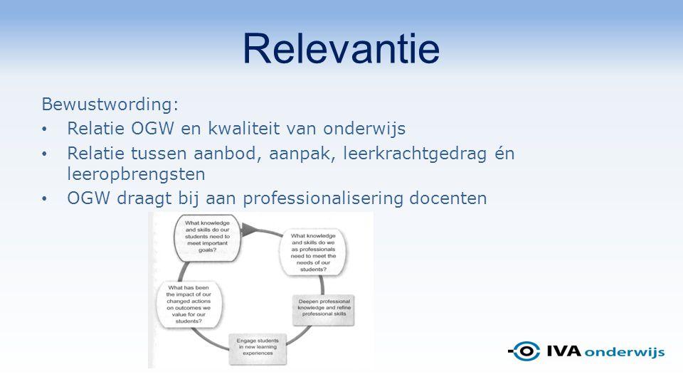 Relevantie Bewustwording: Relatie OGW en kwaliteit van onderwijs