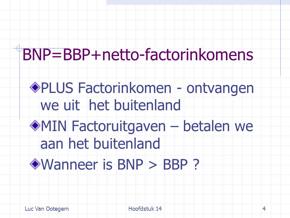 BNP=BBP+netto-factorinkomens