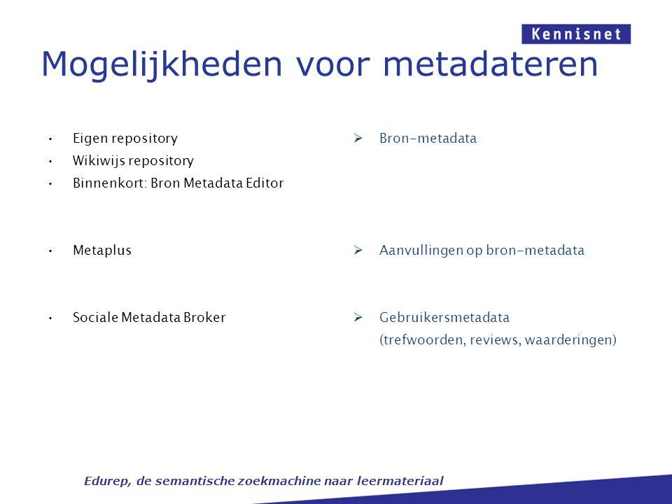 Mogelijkheden voor metadateren
