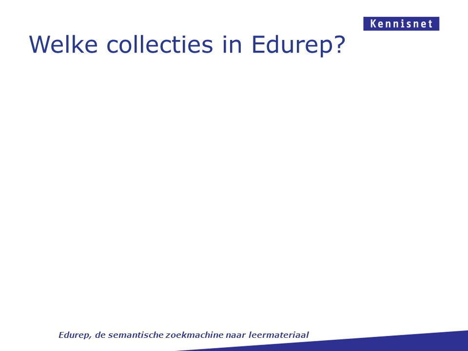 Welke collecties in Edurep