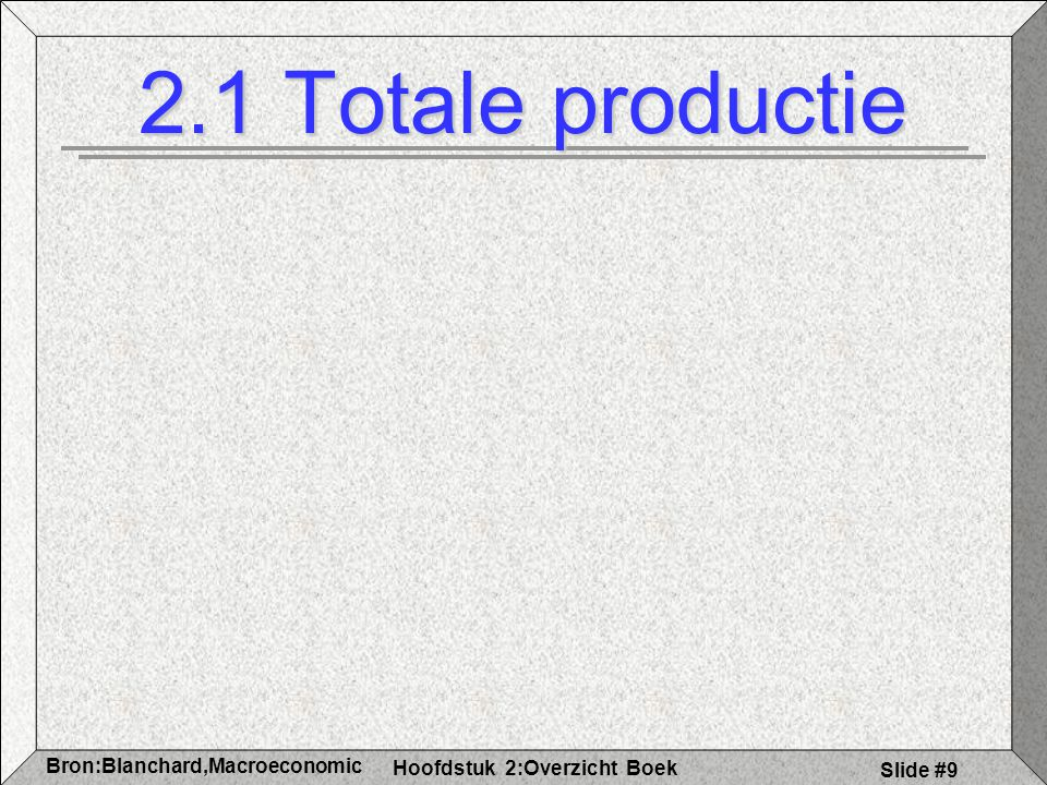 2.1 Totale productie