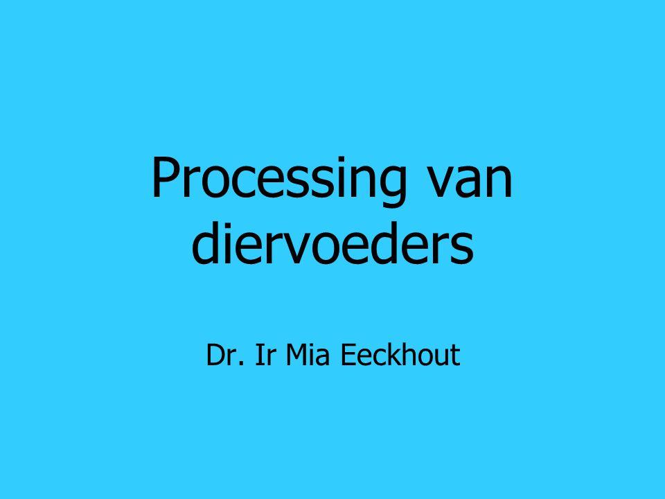 Processing van diervoeders