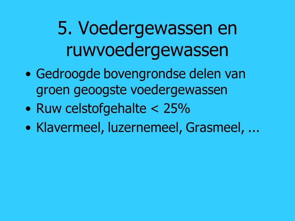 5. Voedergewassen en ruwvoedergewassen