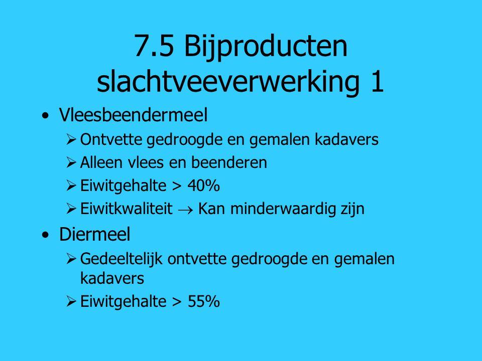 7.5 Bijproducten slachtveeverwerking 1