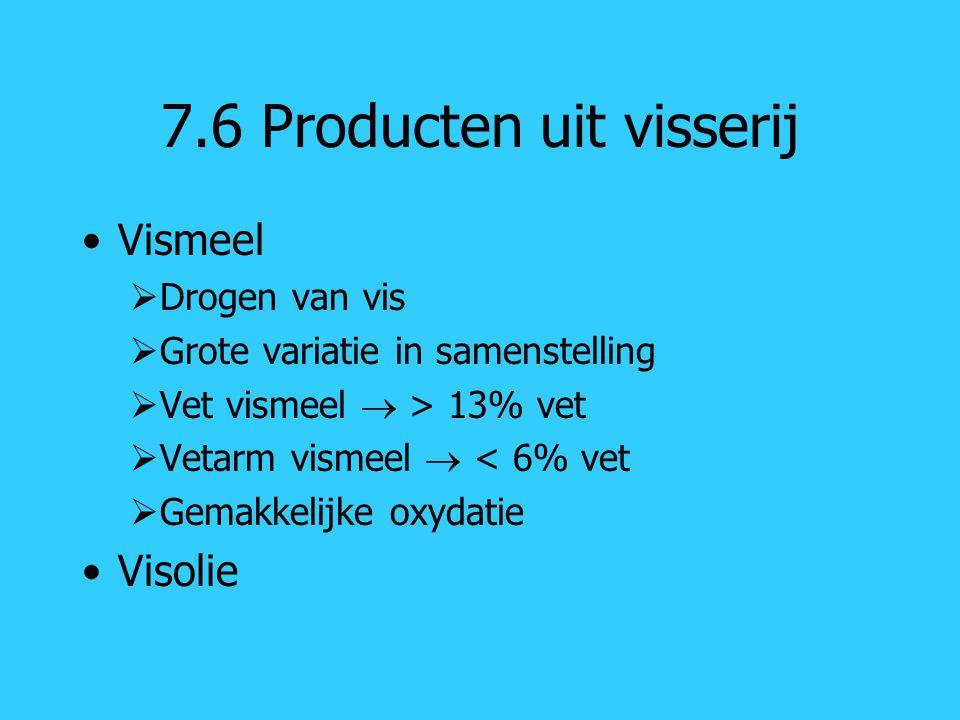 7.6 Producten uit visserij