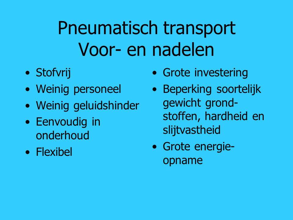 Pneumatisch transport Voor- en nadelen